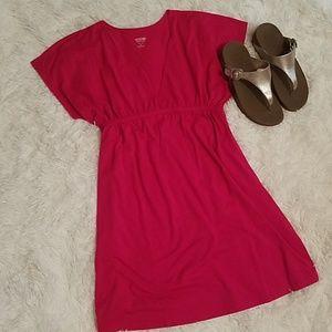 Short Pink Wrap Dress